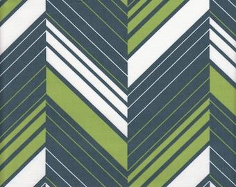SALE - Dear Stella Designs Ziggy Stripe in Emerald - End of Bolt - 1 Yard 5 Inches Left