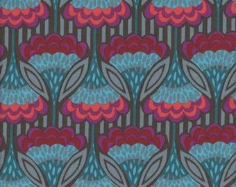 Free Spirit Fabrics Anna Maria Horner Hand Drawn Garden Fanfare in Jeweled - Half Yard