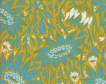 Free Spirit Fabrics Anna Maria Horner Loulouthi Coreopsis in Lime - Half Yard