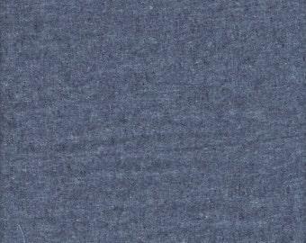 Robert Kaufman Essex Yarn Dyed Linen Cotton in Nautical - Half Yard