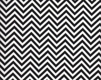Robert Kaufman Remix Chevron Stripe in Black and White - Half Yard