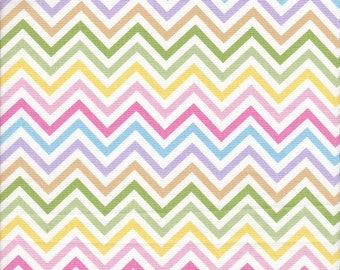 Robert Kaufman Remix Chevron Stripe in Spring - Half Yard