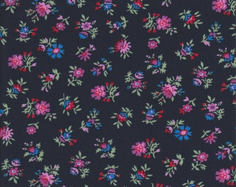Free Spirit Fabrics Denyse Schmidt Shelburne Falls Multi Floral in Lilac - End of Bolt - 23 Inches Left
