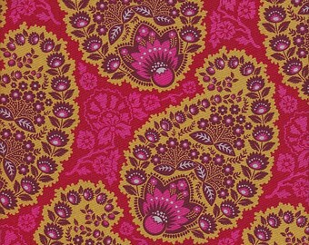 Free Spirit Fabrics Joel Dewberry Heirloom Paisley in Garnet -  Half Yard