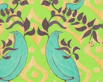 SALE - Free Spirit Fabrics Tina Givens Olivia's Holiday Friendship in Green - End of Bolt - Last 25 Inches