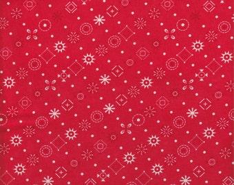 Moda Fabrics Baby Jane Bandana in Red - End of Bolt - Last 33 Inches