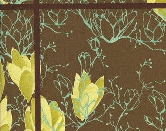 Free Spirit Fabrics Tina Givens Treetop Fancy Magnolia Morning in Sage - Half Yard
