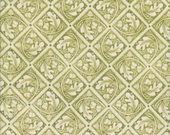 In The Beginning Fabrics Bohemia Oak Tiles in Sage Green -  Half Yard