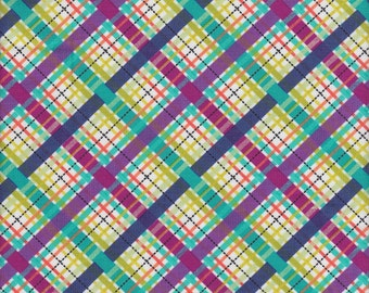 Michael Miller Lil' Bias Plaid in Jewel - Half Yard
