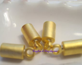 24k Gold Plated,Gold Matt End Cap-Tiny Ending Cap Tube-Cord end tube-Links,Connectors end cord-multi-strand end cords