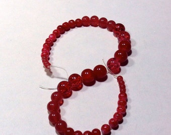 Shades of Red Glass Beads craft Supplies  beading supplies  diy  necklace bracelet earrings boho native ethnic gypsy  cottage chic