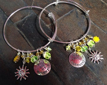 You Are my Sunshine/My Only Sunshine Bangles