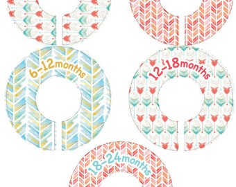Arrow and Chevron - Baby Closet Organizer Clothing Dividers