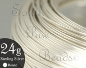 24 Feet Sterling silver wire for wire wrapping 24 gauge round Sterling Silver Wire 1/2 troy oz, you pick the temper half hard wire dead soft