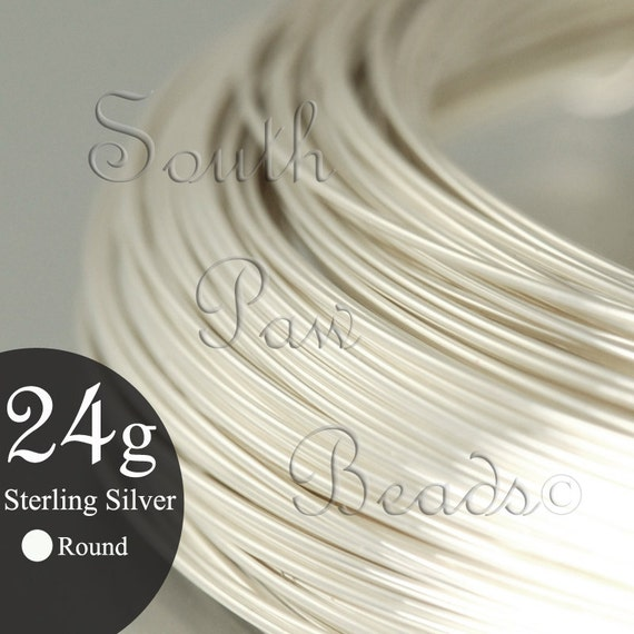 1/2 troy oz Round Sterling Silver Wire 24 gauge, approximately 24 feet, you pick the temper