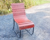 Free Shipping! The Little Red Barn Reclaimed Wood and Wrought Iron Porch Lounge Chair