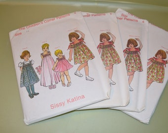 Sissy Katina Dress Children's Corner Sewing Pattern #6 - New - Various Sizes - Discontinued - Out of Print