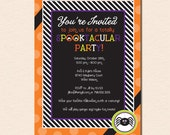 Spooktacular Spider Halloween Party Invitation (Digital File OR Cardstock Printed Cards Also Available)