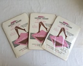 1960s 3 Pairs Seamless Support Hosiery Nylon Stockings Beige Extra Large Fits Size 10 1/2 Size  11  Size 11 1/2 NOS New Old Stock