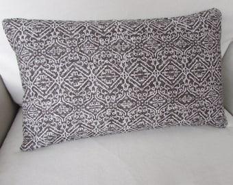 Priya Brown decorative Pillow 12x20 includes insert