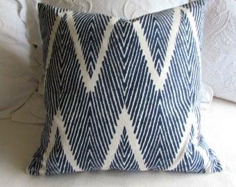 BALI navy decorative pillow cover 20x20