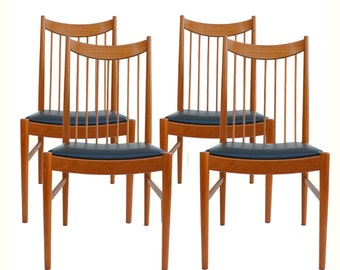 Set of 4 Arne Vodder Dining Chairs by Sibast Mobler Danish Modern