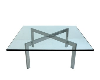Holiday Sale Mid Century Modern Aluminum X Base Coffee Table