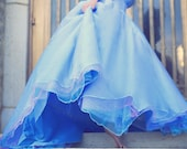 In Stock Cinderella Adults Fantasy Upscale Halloween Gown Size Small/medium