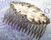 Bridal Hair Comb Oak Leaf Woodland Wedding Vintage Hair combs Bridal Hair Accessories Decorative Combs Oak Leaf Hair comb