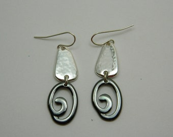 Silver and Black Spiral