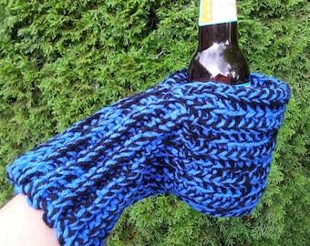 Drink Mitten Bright Blue and Black