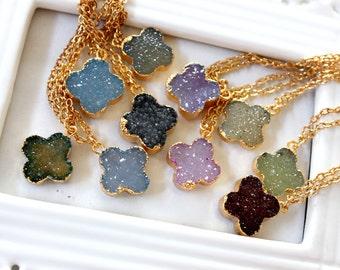 SALE * Druzy color necklace - rich color - choose your color