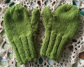 Olive Green Toddler Mittens