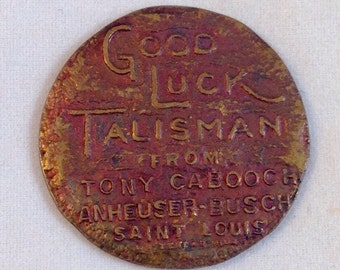 Vintage Good Luck Talisman, Tony Cabooch, Anheuser Busch, Swastika, Swacade