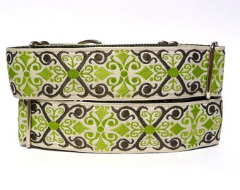 """1.5"""" CAMELOT olive green 14-18"""" martingale dog collar"""