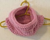 Cozy Bulky Thick Pink Cowl Buy 1 Give 1