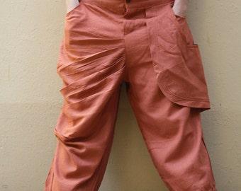 Changes..Funky  Linen/cotton Pants/long pants/capri pants/elegant pants/linen/black/brown/blue gray/purple/hippie/funky/M/L/XL/custom made/