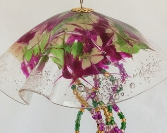 Hand Sculptured Semaeostomeae Design Jellyfish Sun Catcher
