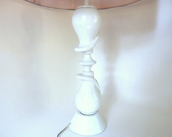 Vintage Atomic Table Lamp with Shade, Mid Century Home Decor