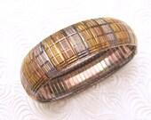 Wide Sterling Bracelet  Vintage Jewelry  B5425