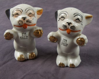 Vintage Puppy Salt and Pepper Shakers Made in Japan deg