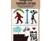 Seattle Temporary Tattoos -- Party Pack of Ten Sets