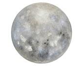 Luna 21 - Archival 8x10 Art Print - Contemporary Watercolor Painting - Astronomy Art, Full Moon - by Natasha Newton
