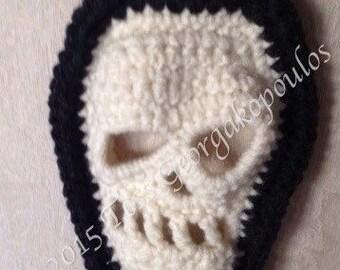 Skull Scarf, Halloween crochet pattern, Skull Crochet Pattern, Crochet Scarf Pattern, Skull pattern, Goth,Gothic, Day of the Dead, DIY