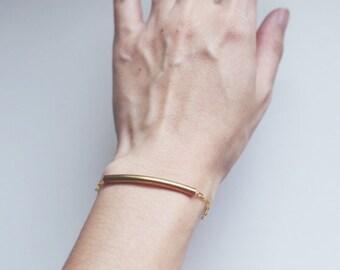 Minimalist Brass Tube Bracelet