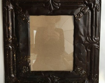 Reclaimed Tin Ceiling Rust 11 x 14 Picture Frame Photo 2613-15