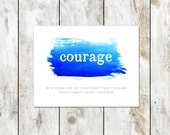 Inspire Identity Collection Cards - Courage - Psalm 27:14  - Christian Greeting Card