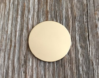 10 pack - Pack 1/2 inch 22 Gauge GOLD FILL Round Circle Discs Jewelry Stamping Supplies