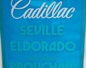 Vintage 1982 Cadillac dealer sign big sign cadillac sign