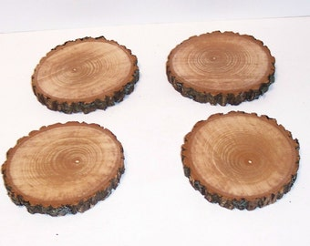 Rustic Coasters Cut From ASH Hardwood